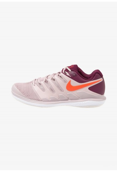 Nike AIR ZOOM VAPOR X HC - Baskets tout terrain particle rose/bright crimson/bordeaux liquidation