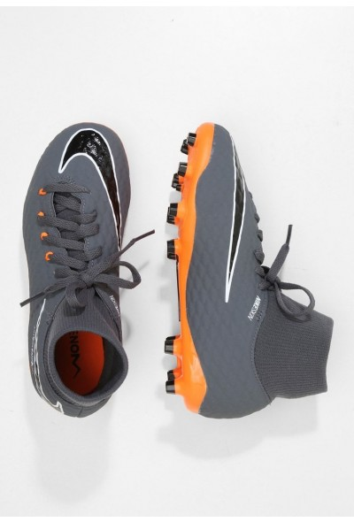 Nike PHANTOM 3 ACADEMY DF FG - Chaussures de foot à crampons dark grey/total orange/white liquidation