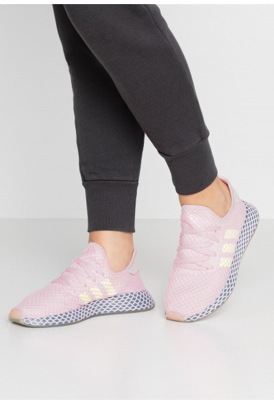 Cadeaux De Noël 2019 Adidas DEERUPT RUNNER  - Baskets basses - clear pink/hi clear pink/hi-res yellow/raw steel  pas cher