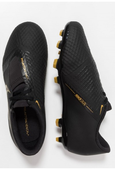 Nike PHANTOM ACADEMY FG - Chaussures de foot à crampons black/metallic vivid gold liquidation