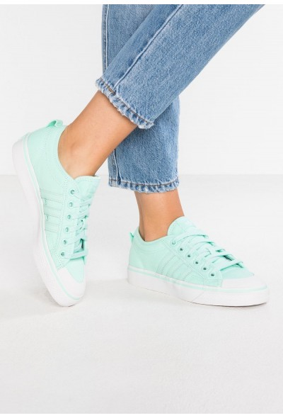 Adidas NIZZA - Baskets basses clear mint/crystal white pas cher