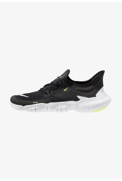 Nike FREE RN 5.0 - Chaussures de course neutres black/white/anthracite/volt liquidation