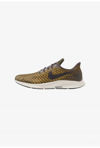Nike AIR ZOOM PEGASUS 35 - Chaussures de running neutres thunder grey/oil grey/dark citron/light bone liquidation