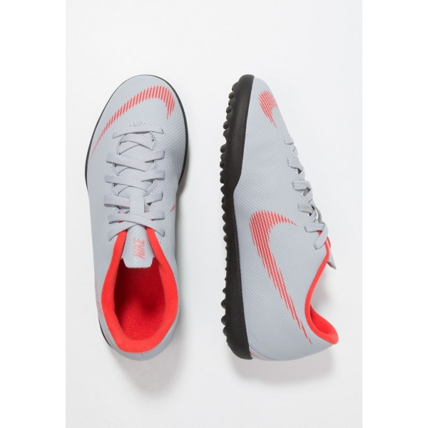 Nike MERCURIAL VAPORX 12 CLUB TF - Chaussures de foot multicrampons wolf grey/light crimson/black liquidation