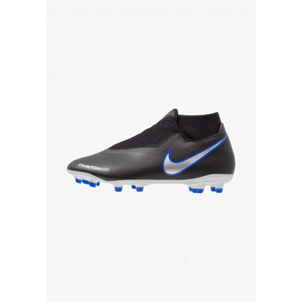 Black Friday 2020 | Nike PHANTOM OBRA 3 ACADEMY DF MG - Chaussures de foot à crampons black/metallic silver/racer blue liquidation