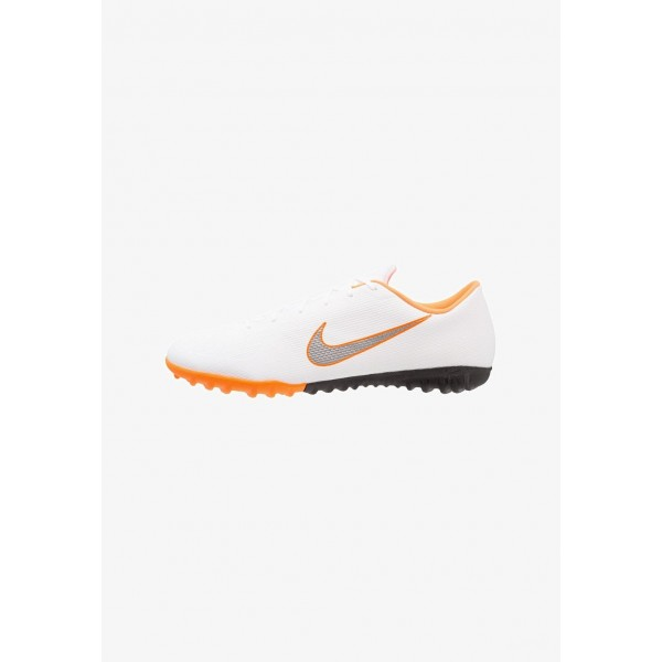Nike MERCURIAL VAPORX 12 ACADEMY TF - Chaussures de foot multicrampons white/chrome/total orange liquidation