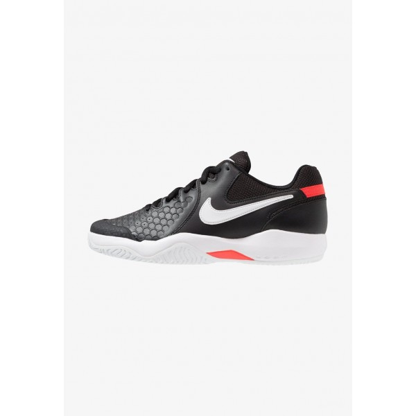 Nike AIR ZOOM RESISTANCE - Chaussures de tennis sur terre battue black/white/bright crimson liquidation
