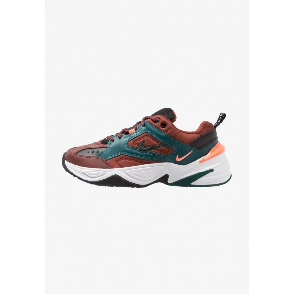 Nike M2K TEKNO - Baskets basses pueblo brown/black/rainforest/bright mango/white liquidation