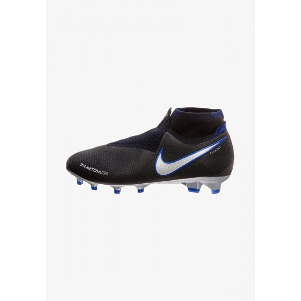 Nike PHANTOM VISION ELITE  - Chaussures de foot à crampons black/metallic silver/racer blue liquidation
