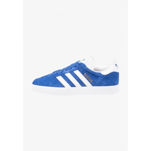Adidas GAZELLE - Baskets basses collegiate royal/white/gold metallic pas cher