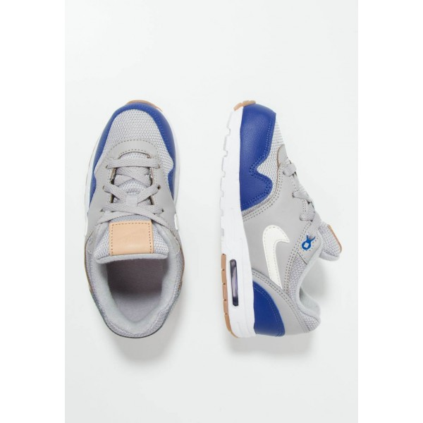 Nike AIR MAX 1 - Baskets basses atmosphere grey/sail/deep royal blue liquidation