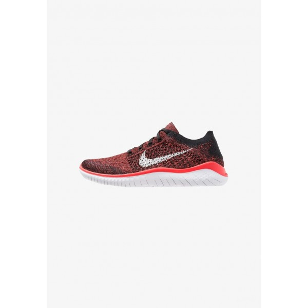 Nike FREE RUN FLYKNIT 2018 - Chaussures de course neutres bright crimson/white/black liquidation