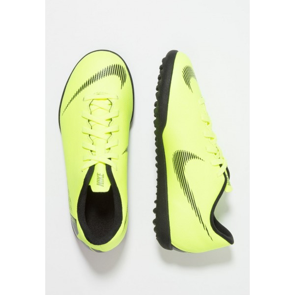 Nike MERCURIAL VAPORX 12 CLUB TF - Chaussures de foot multicrampons volt/black liquidation