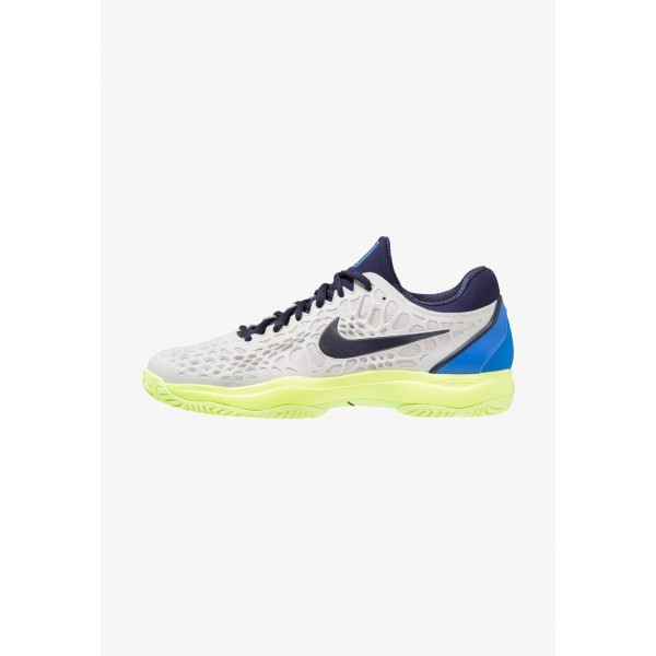 Nike AIR ZOOM CAGE 3 HC - Chaussures de tennis sur terre battue vast grey/blackened blue/signal blue liquidation