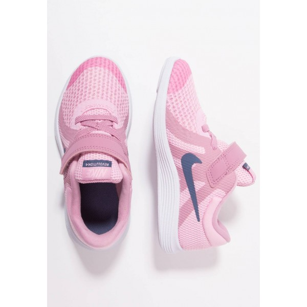Nike REVOLUTION 4 - Chaussures de running neutres pink/diffused blue/elemetal pink/white liquidation