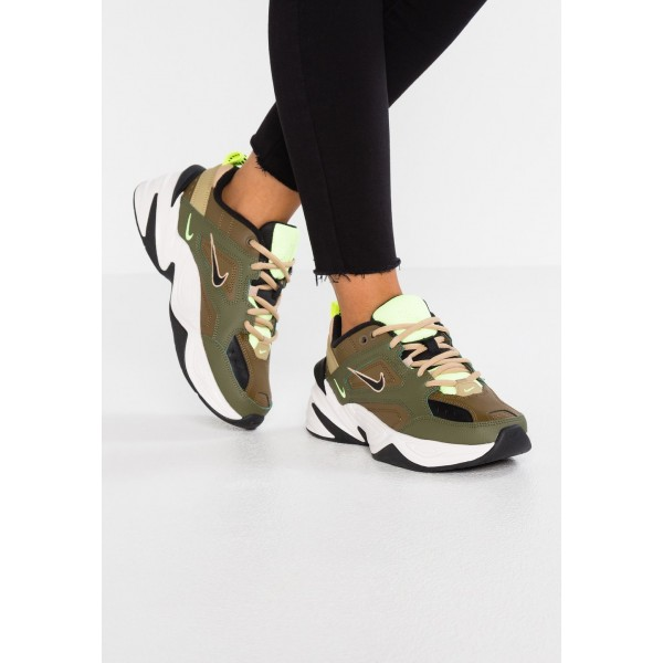 Nike M2K TEKNO - Baskets basses medium olive/black/yukon brown/parachute beige/phantom/desert liquidation