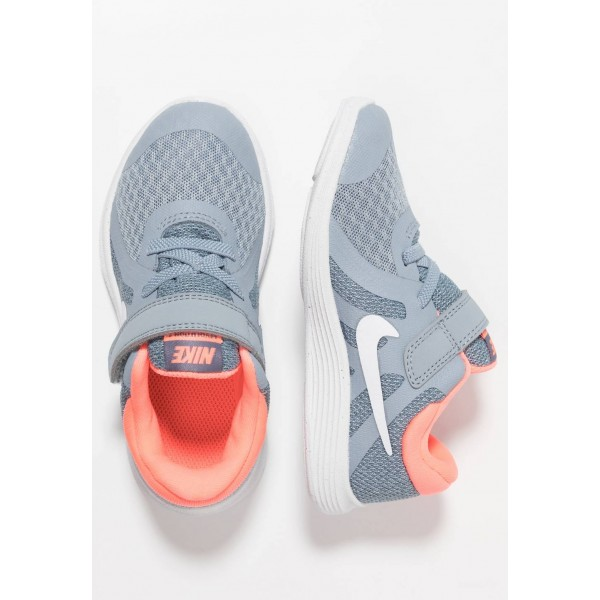 Nike REVOLUTION 4 - Chaussures de running neutres obsidian mist/white/lava glow/armory blue liquidation