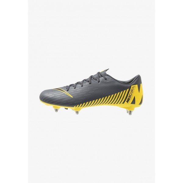 Black Friday 2020 | Nike MERCURIAL VAPOR 12 ACADEMY SG PRO - Chaussures de foot à lamelles dark grey/black/opti yellow liquidation