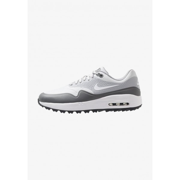 Nike AIR MAX 1 - Chaussures de golf pure platinum/white/wolf grey/cool grey/anthracite liquidation