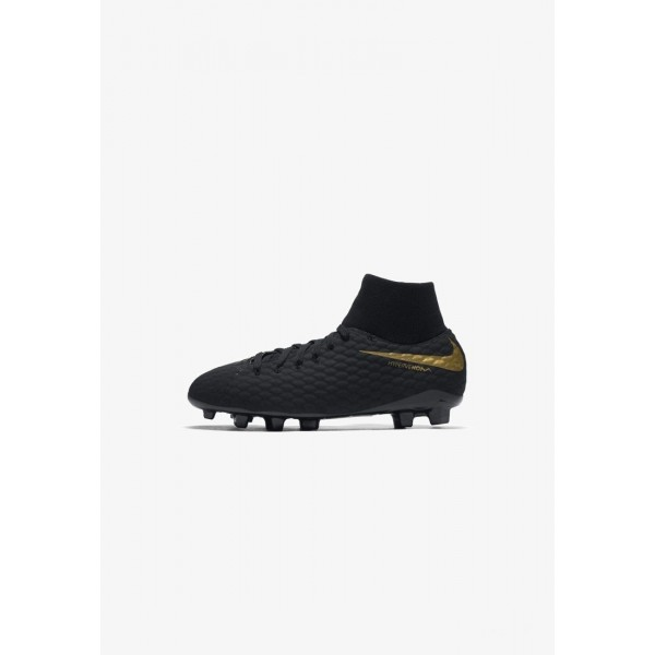 Nike PHANTOM 3 ACADEMY DF FG - Chaussures de foot à crampons black/metallic vivid gold liquidation