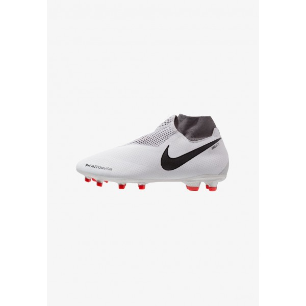 Black Friday 2020 | Nike PHANTOM OBRA 3 PRO DF FG - Chaussures de foot à crampons pure platinum/metallic dark grey/wolf grey/light crimson/cool grey/metallic silver liquidation