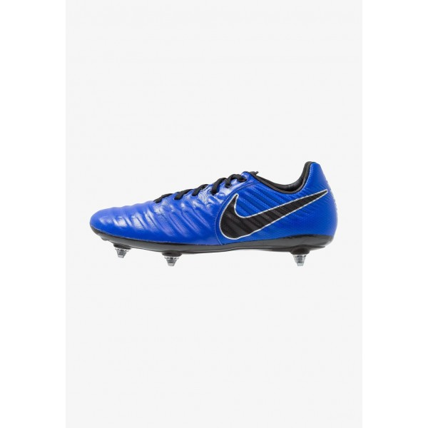 Nike TIEMPO LEGEND 7 PRO SG - Chaussures de foot à lamelles racer blue/black/metallic silver liquidation