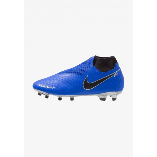 Black Friday 2020 | Nike PHANTOM OBRA 3 PRO DF FG - Chaussures de foot à crampons racer blue/black/metalic silver/volt liquidation