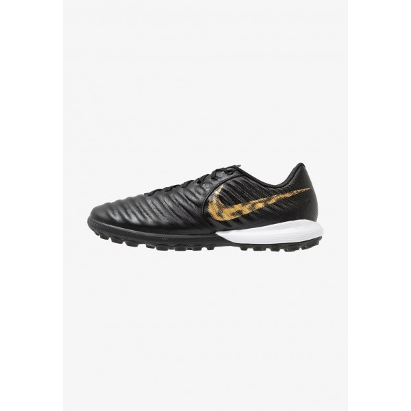 Nike TIEMPO LUNAR LEGENDX 7 PRO TF - Chaussures de foot multicrampons black/metallic vivid gold liquidation