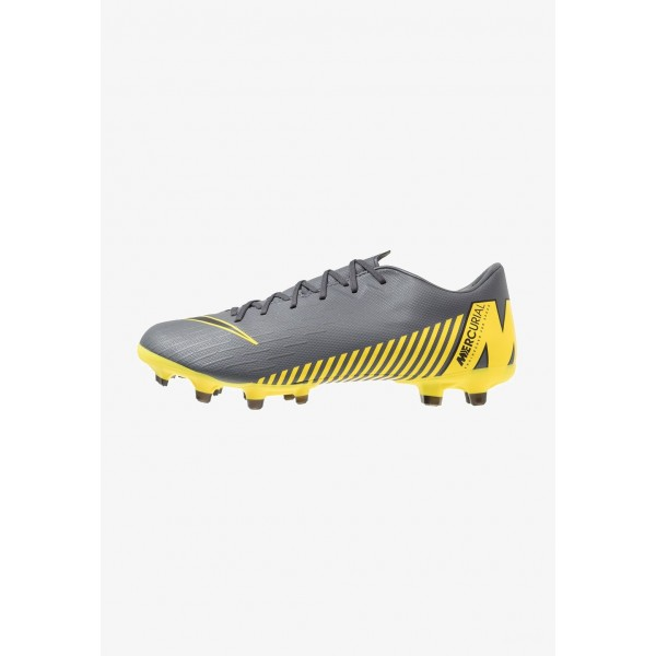 Black Friday 2020 | Nike MERCURIAL VAPOR 12 ACADEMY MG - Chaussures de foot à crampons dark grey/black/opti yellow liquidation