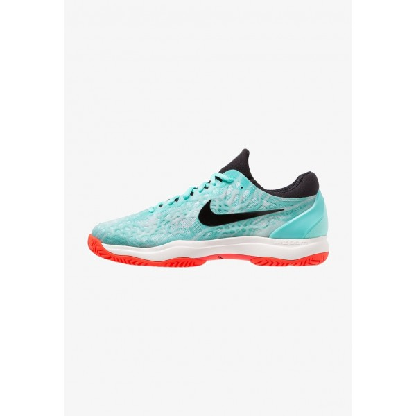 Nike AIR ZOOM CAGE 3 HC - Chaussures de tennis sur terre battue aurora green/black/teal tint/phantom/bright crimson liquidation