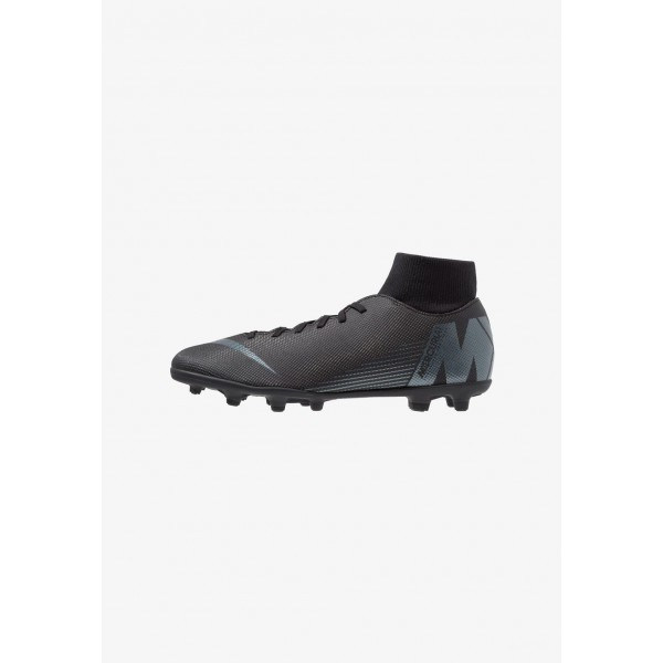 Black Friday 2019 | Nike MERCURIAL 6 CLUB MG - Chaussures de foot à crampons black/anthracite/light crimson liquidation