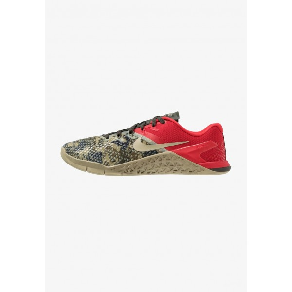 Nike METCON 4 XD - Chaussures d'entraînement et de fitness sequoia/university red/neutral olive liquidation
