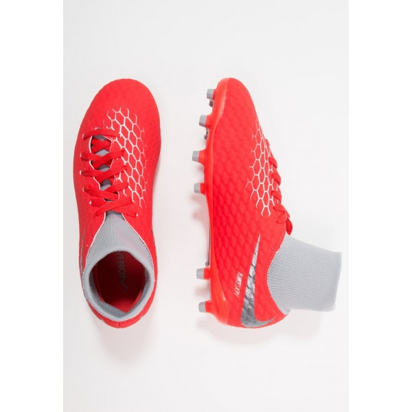 Nike PHANTOM 3 ACADEMY DF FG - Chaussures de foot à crampons light crimson/metallic dark grey/wolf grey/metallic silver liquidation