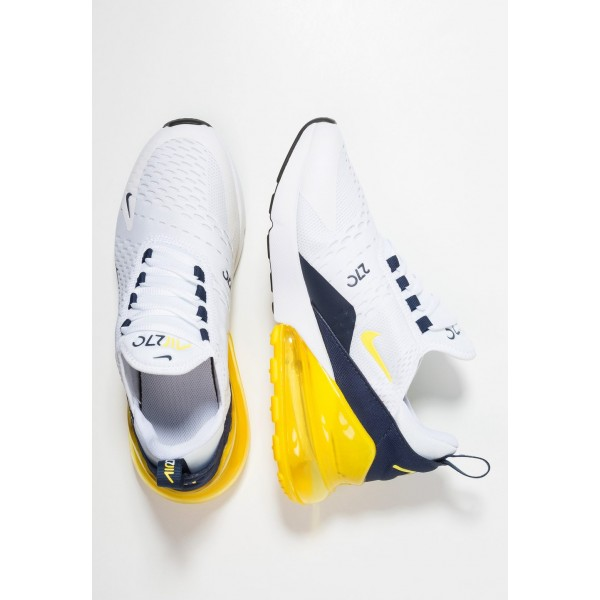 Nike AIR MAX 270 - Baskets basses white/opti yellow/midnight navy liquidation