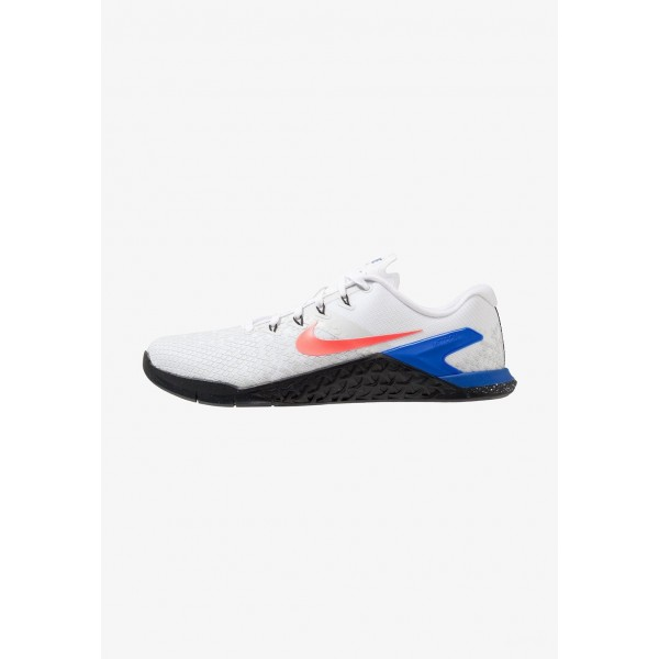 Nike METCON 4 XD - Chaussures d'entraînement et de fitness white/flash crimson/racer blue/black liquidation