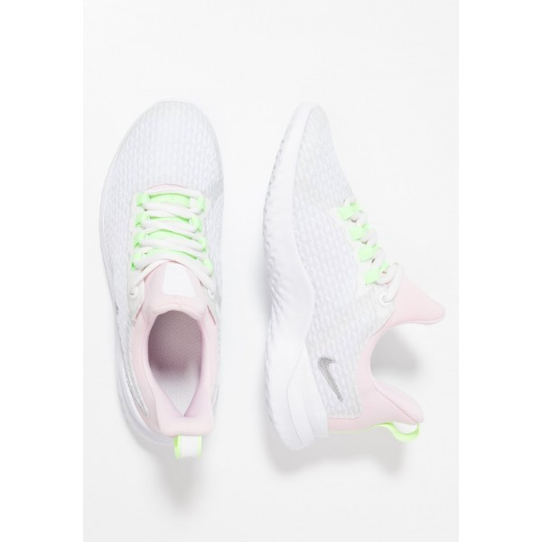 Nike RENEW RIVAL - Chaussures de running neutres white/metallic silver/platinum tint liquidation