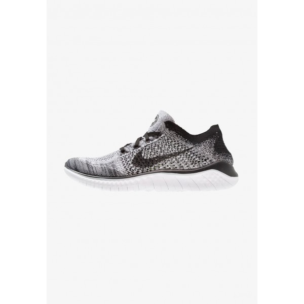 Black Friday 2020 | Nike FREE RUN FLYKNIT 2018 - Chaussures de course neutres white/black liquidation