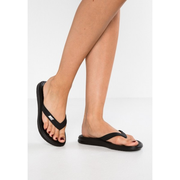 Nike SOLAY THONG - Tongs black/white liquidation