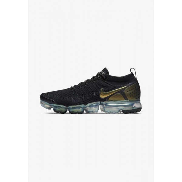 Nike AIR VAPORMAX FLYKNIT - Chaussures de running neutres - black/metallic silver/multi black/metallic silver/multi-colour liquidation