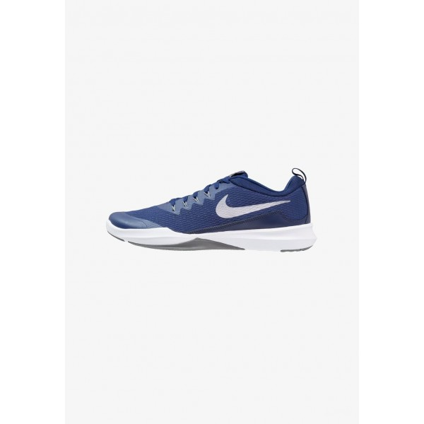 Nike LEGEND TRAINER - Chaussures d'entraînement et de fitness blue void/metallic silver/cool grey liquidation