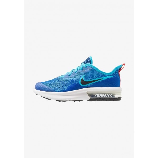 Black Friday 2020 | Nike AIR MAX SEQUENT 4 - Chaussures de running neutres indigo force/black/light blue fury/habanero red liquidation