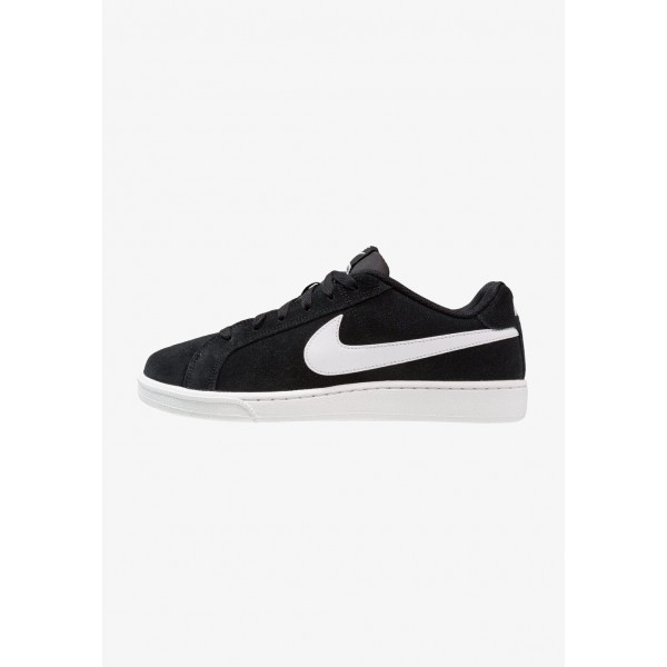 Nike COURT ROYALE SUEDE - Baskets basses black/white liquidation