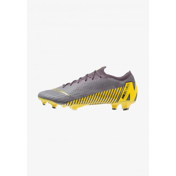 Black Friday 2020 | Nike MERCURIAL VAPOR 12 ELITE FG - Chaussures de foot à crampons thunder grey/black/dark grey/opti yellow liquidation
