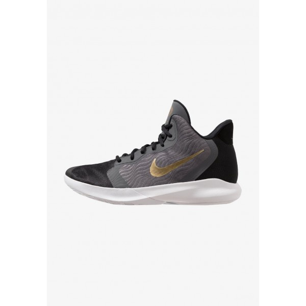 Black Friday 2020 | Nike PRECISION III - Chaussures de basket dark grey/metallic gold/white/black liquidation
