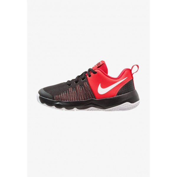 Nike TEAM HUSTLE QUICK - Chaussures de basket black/white/university red liquidation