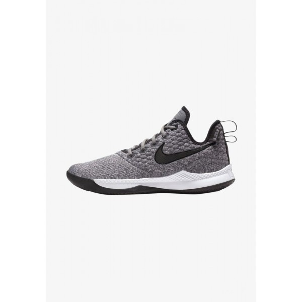 Nike LEBRON WITNESS III - Chaussures de basket dark grey/white/black liquidation