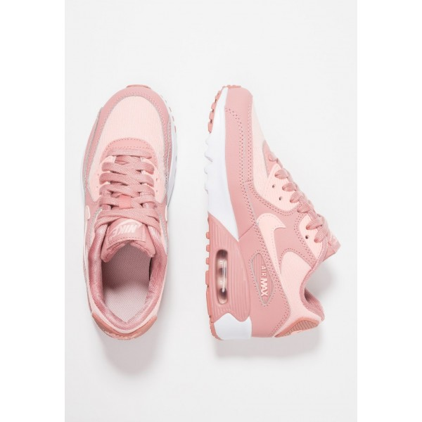 Nike AIR MAX 90 SE MESH (GS) - Baskets basses rust pink/storm pink/guava ice/white liquidation