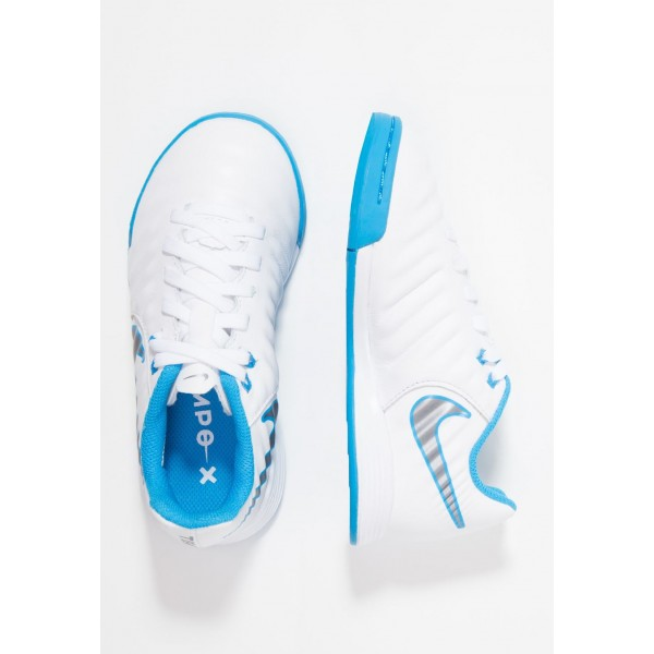 Black Friday 2020 | Nike TIEMPO LEGENDX 7 ACADEMY IC - Chaussures de foot en salle white/chrome/blue hero liquidation