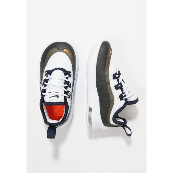 Nike AIR MAX AXIS - Chaussures premiers pas white/total orange/obsidian/amarillo liquidation