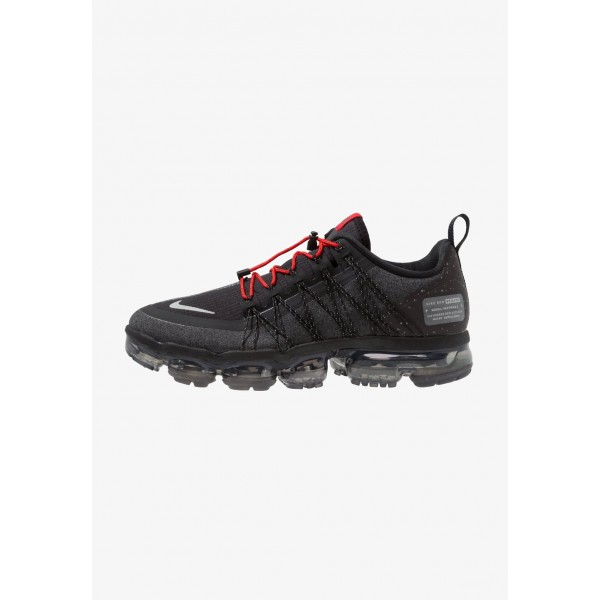 Nike AIR VAPORMAX RUN UTILITY - Chaussures de running neutres black/reflect silver/anthracite/habanero red liquidation